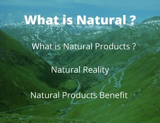 what is natural and natural products