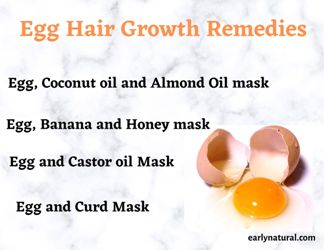 Egg for Hair Growth and Healthy Hair Remedies