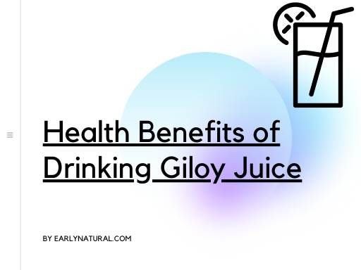Health Benefits of Drinking a Giloy Juice