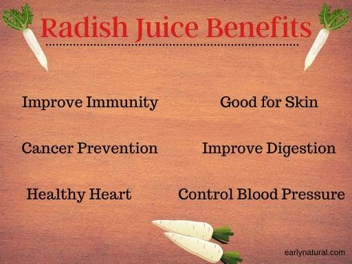Radish Juice – Its Nutritional Value and Other Benefits